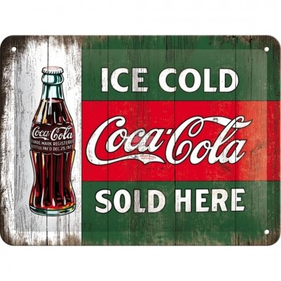 "Blechschild ""Ice Cold - Coca Cola"" Nostalgic Art"