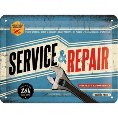 """Blechschild """"Service and Repair"""" Nostalgic Art"""