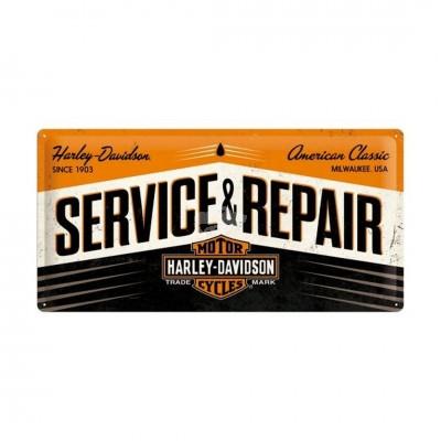 "Blechschild ""Harley Davidson - Service & Repair"" Nostalgic Art"