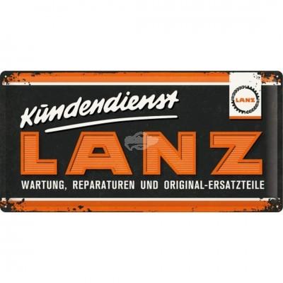 """Blechschild """"Lanz - Logo"""" 50x25 cm Nostalgic Art"""