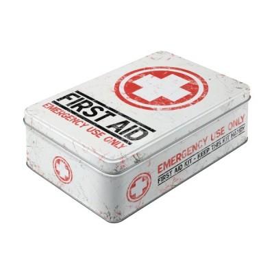 """Vorratsdose Flach """"First Aid Kit"""" Nostalgic Art -AUSVERKAUFT-"""