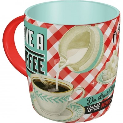 "Tasse ""Have a Coffee - Say it 50s"" Nostalgic Art"