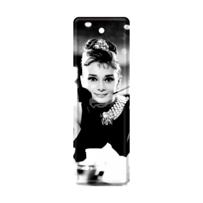 "Lesezeichen ""Audrey Hepburn - Breakfast at Tiffanys"" Nostalgic Art"