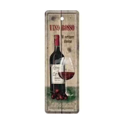 "Lesezeichen ""Vino Rosso - Bier & Spirituosen"" Nostalgic Art"