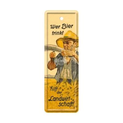 """Lesezeichen """"Wer Bier trinkt - Bier & Spirituosen"""" Nostalgic Art-Auslaufartikel"""