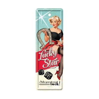 """Lesezeichen """"Lucky Star - Open Bar"""" Nostalgic Art"""