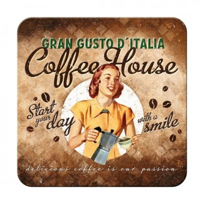 "Untersetzer ""Coffee House Lady"""