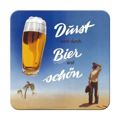 """Untersetzer """"Bier Durst"""" Nostalgic Art"""