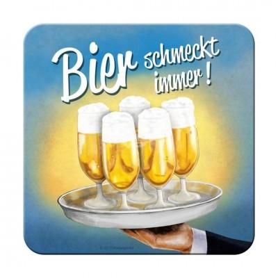 """Untersetzer """"Bier schmeckt immer -Tablett"""""""