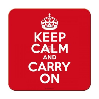 "Untersetzer ""Keep Calm and Carry on"" Nostalgic Art-Auslaufartikel"