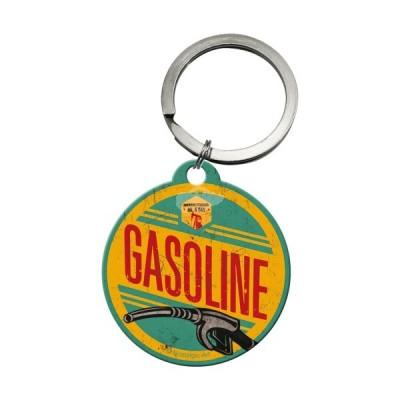 """Schlüsselanhänger rund """"Gasoline - Best Garage"""" Nostalgic Art"""