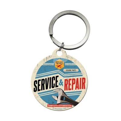 """Schlüsselanhänger rund """"Service & Repair - Best Garage"""" Nostalgic Art"""