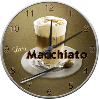 "Wanduhr ""Latte Macchiato - Coffee & Chocolate"" Nostalgic Art"