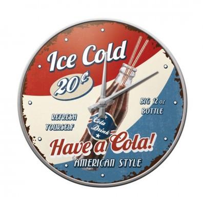 "Wanduhr ""Have a Cola - Coca Cola"" Nostalgic Art"