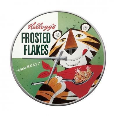 "Wanduhr ""Frosted - Kelloggs"" Nostalgic Art-Auslaufartikel"