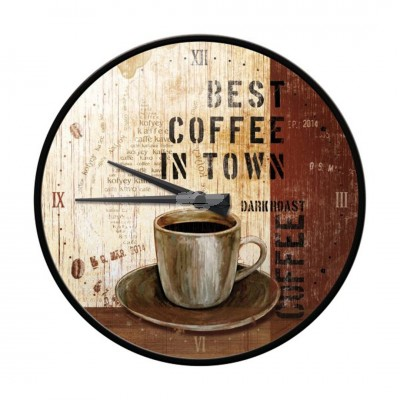 "Wanduhr ""Best Coffee in Town - Coffee & Chocolate"" Nostalgic Art"