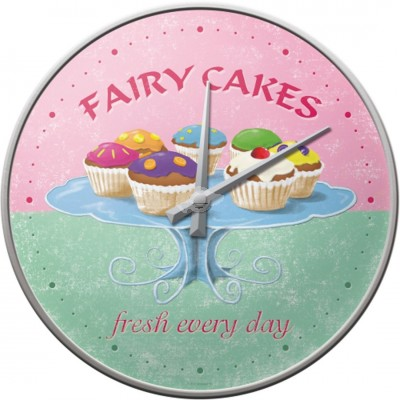 "Wanduhr ""Fairy Cakes - Home & Country"" Nostalgic Art"