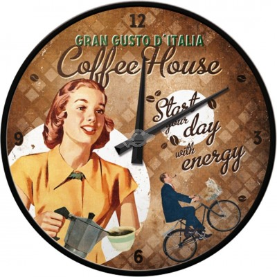 "Wanduhr ""Coffee House - Coffee & Chocolate"" Nostalgic Art"