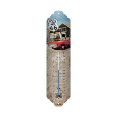"Thermometer ""Route 66 - The Highway"" Nostalgic Art"