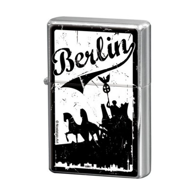 """Feuerzeug """"Berlin Quadriga schwarz - Berlin CityStyle"""" Nostalgic Art"""