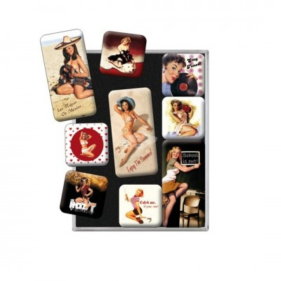 "Magnet-Set 9-tlg ""Beach - Pin Up"" Nostalgic Art"