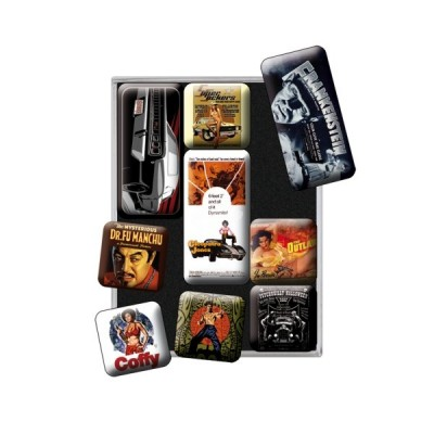 "Magnet-Set 9-tlg ""Style - Movie Art"" Nostalgic Art-Auslaufartikel"