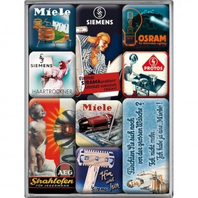 "Magnet-Set 9-tlg ""Traditionsmarken - Miele"" Nostalgic Art"