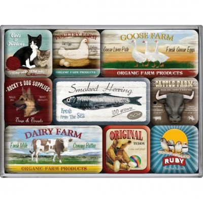"Magnet-Set 9-tlg ""Animal Club"" Nostalgic Art"