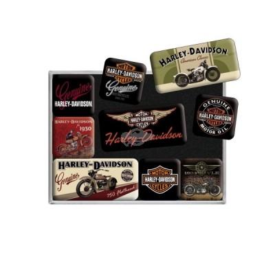 "Magnet-Set 9-tlg ""Bikes - Harley Davidson"" Nostalgic Art"