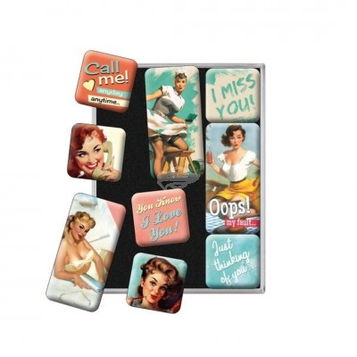 "Magnet-Set 9-tlg ""Nice Slogans - Say It 50s"" Nostalgic Art"