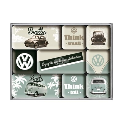 "Magnet-Set 9-tlg ""VW Think Tall & Small"" Nostalgic Art"