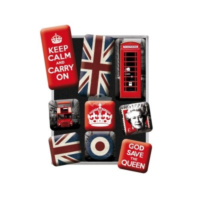 "Magnet-Set 9-tlg ""United Kingdom"" Nostalgic Art"
