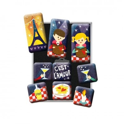 "Magnet-Set 9-tlg ""Cest LAmour- Happy Together"" Nostalgic Art-Auslaufartikel"