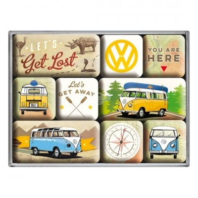 "Magnet-Set 9-tlg ""VW Bulli - Lets Get Lost"" Nostalgic Art"