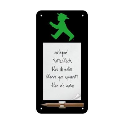 "Notitzblock-Schild ""Ampelmännchen - grün"" Nostalgic Art"