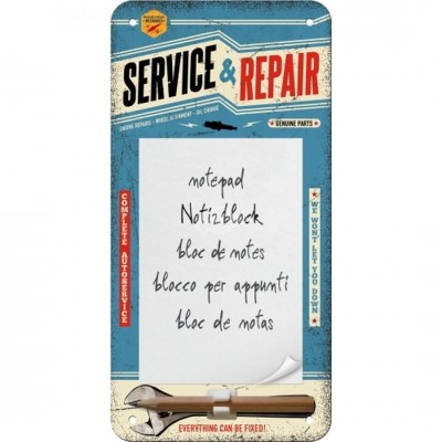"Notitzblock-Schild ""Service & Repair - Best Garage"" Nostalgic Art"