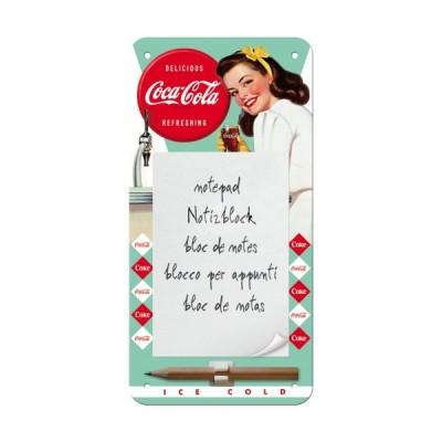 """Notitzblock-Schild """"Diner Lady - Coca Cola"""" Nostalgic Art"""