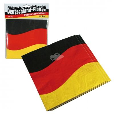 """Papierservietten Deutschland """"Deutschlandflagge"""" 12 Stück"""