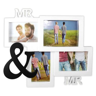 """Bilderrahmen """"Mr. & Mr."""" - für 4 Bilder"""