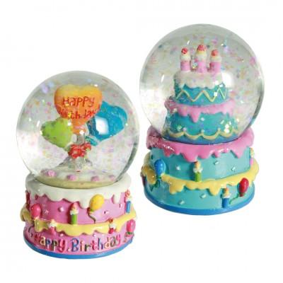 Glitterkugel ''Happy Birthday'' - versch. Ausführungen