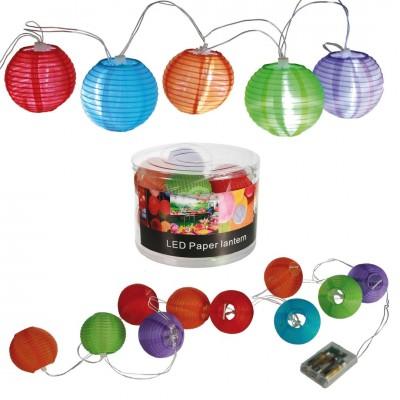 LED Lampionkette batteriebetrieben