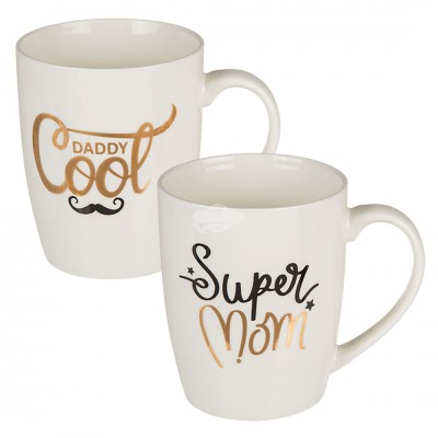 "Becher ""Super Mom & Daddy Cool"""