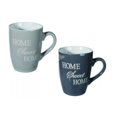 "Tasse Kaffeebecher Country ""Home Sweet Home"" - versch. Farben -"