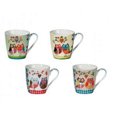 "Tasse ""Eule"" in 4 Designs"