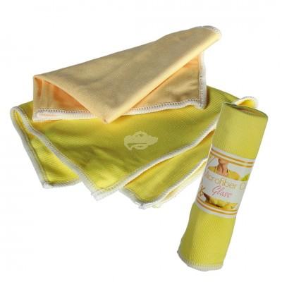 2er Set Microfasertuch für die Glasreinigung in gelb