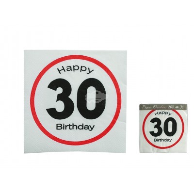 "Servietten ""Happy Birthday 30"""