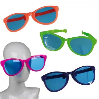 Riesen-Spaßbrille mit farbigen Gläsern - versch. Farben