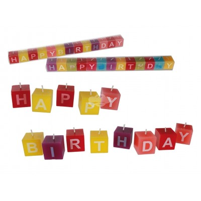 "Kerzenblock ""Happy Birthday"""