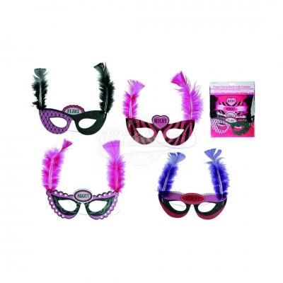 Augenmaske mit Aufschrift 4tlg Set