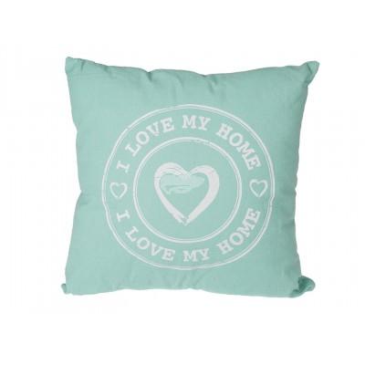 """Kissen mit Slogan """"I Love my Home"""""""